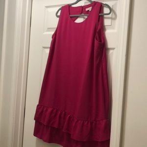 Loft plus sleeveless dress! NWT keyhole back